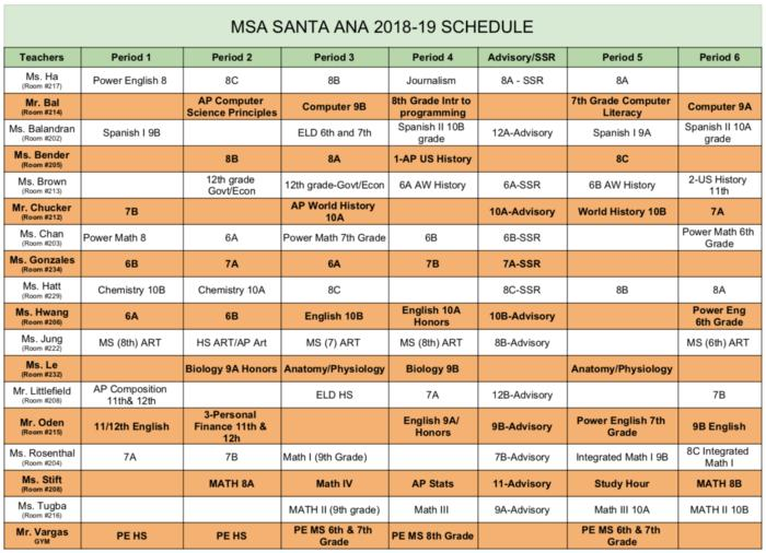 Elac Academic Calendar.2018 2019 Academic School Calendar Master Schedule News And